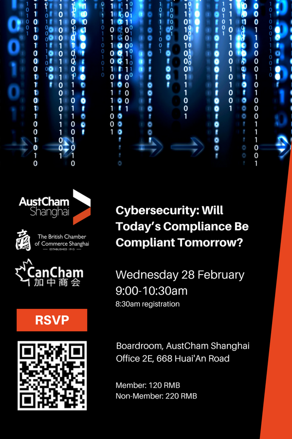 <p>Cybersecurity event flyer China regulations</p>