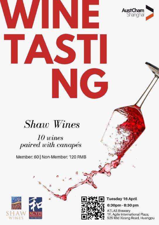 <p>Shaw Wines Tasting - Tuesday 16 April</p>